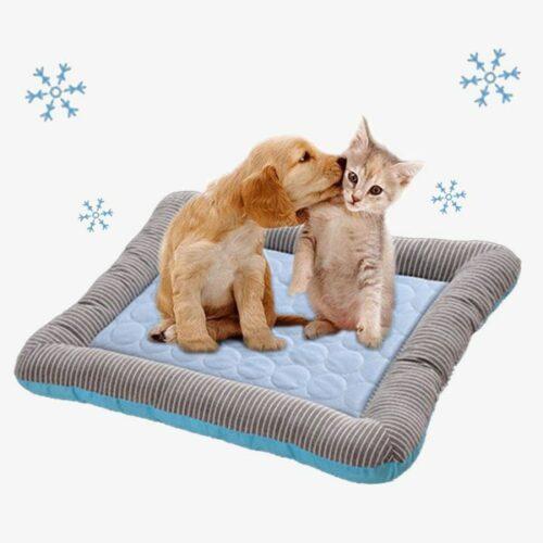 tapis rafraîchissant pour chien et chat bleu_