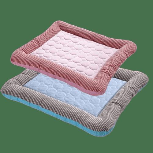 tapis rafraîchissant pour chien et chat bleu et rose ou tapis refroidissement pour chien et chat bleu et rose