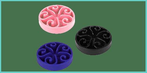 gamelles anti-glouton noir bleu rose