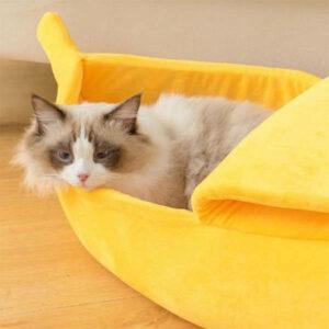 Panier banane pour chat