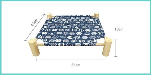guide taille lit hamac surélevé pour chat