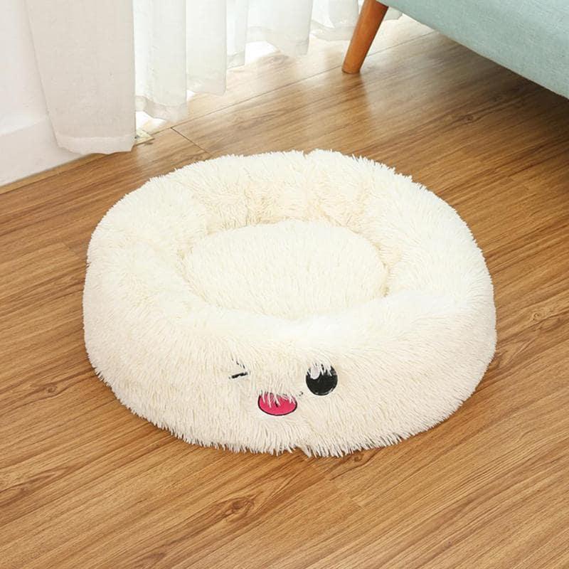 coussin anti stress pour chien - coussin apaisant pour chien blanc