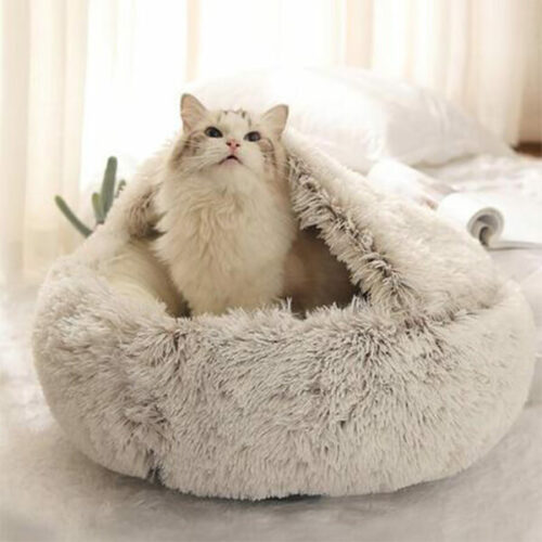 coussin fluffy chat