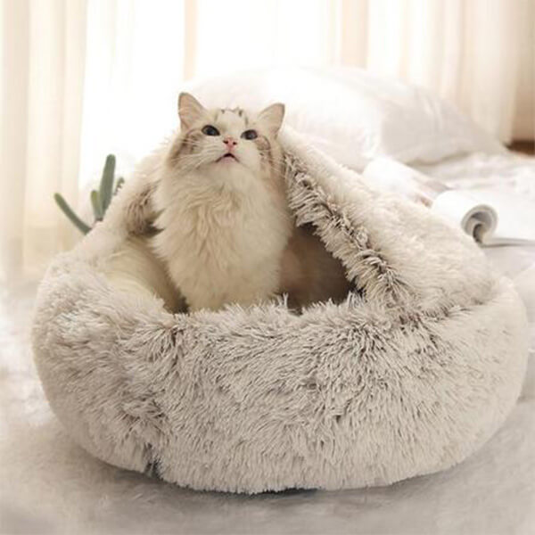 Coussin fluffy pour chat