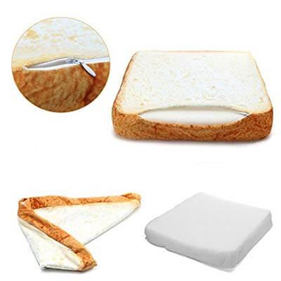 coussin toast pour chat déhoussable