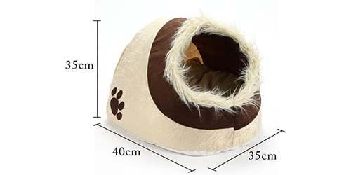 dimensions abri douillet pour chat